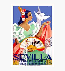 1952 Seville Spain April Fair Poster Photographic Print