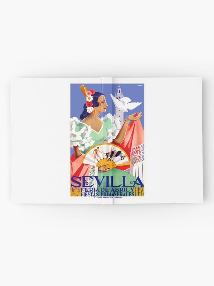 Alternative Ansicht von 1952 Sevilla Spanien April Fair Poster Notizbuch