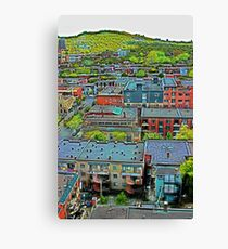 Montreal Suburb (vertical) Canvas Print
