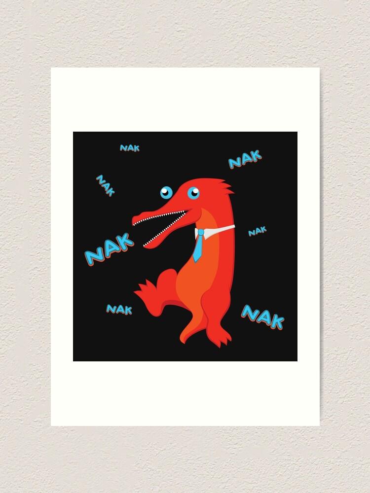 Alternate view of NAK NAK NAK Art Print
