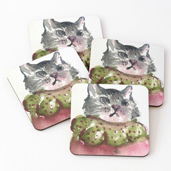 Lea the Cat Coasters (Set of 4)