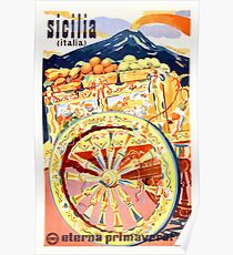 1947 Sicily Italy Travel Poster Eternal Spring Poster