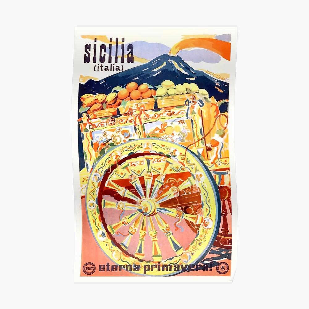 Sizilien-Italien-Reise-Plakat 1947 Ewiger Frühling Poster