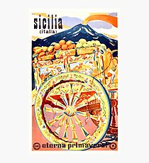 1947 Sicily Italy Travel Poster Eternal Spring Photographic Print