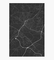 Bielefeld, Germany Map. (White on black) Photographic Print