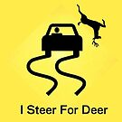 """I Steer For Deer"" Sticker by AxtInk"