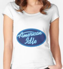 """""""American Idle"""" Parody Design Women's Fitted Scoop T-Shirt"""