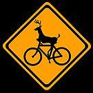 Deer on Bike by AxtInk
