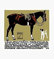 Lámina fotográfica 1912 Ludwig Hohlwein arte del cartel de equitación