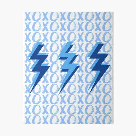 xoxo lightning bolts - blue Art Board Print