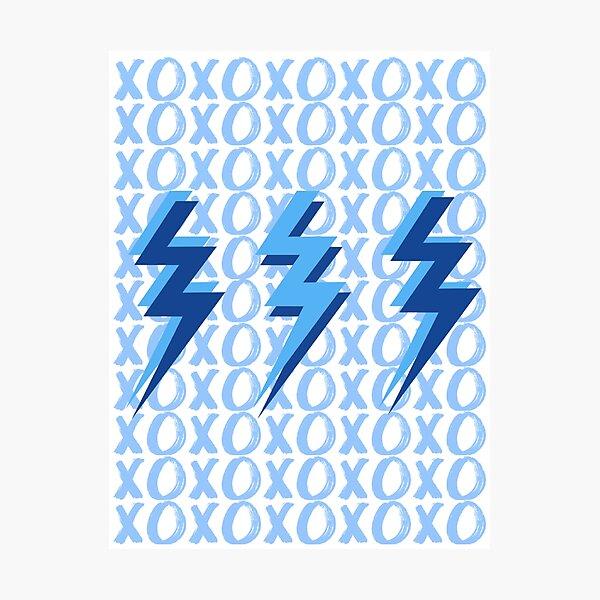 xoxo lightning bolts - blue Photographic Print