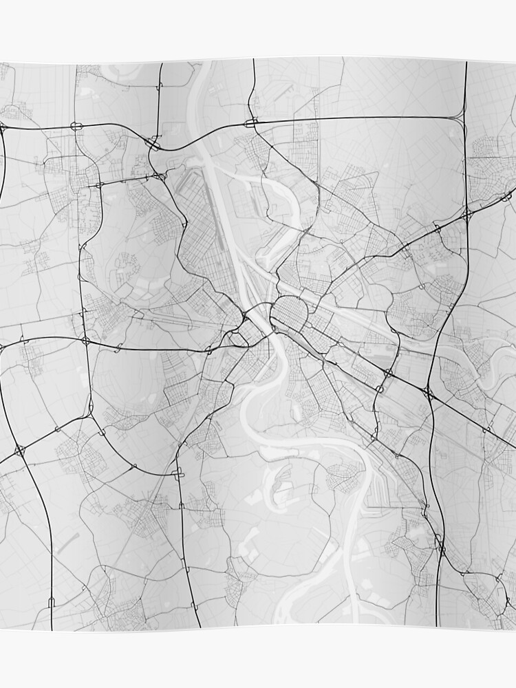 Map Of Germany Mannheim.Mannheim Germany Map Black On White Poster By Graphical Maps