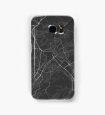 Stuttgart, Germany Map. (White on black) Samsung Galaxy Case/Skin