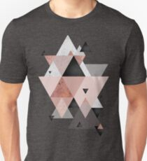 Geometric Compilation in Rose Gold and Blush Pink Unisex T-Shirt