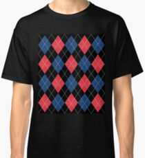 ARGYLE RED AND BLUE Classic T-Shirt