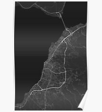 Patras, Greece Map. (White on black) Poster