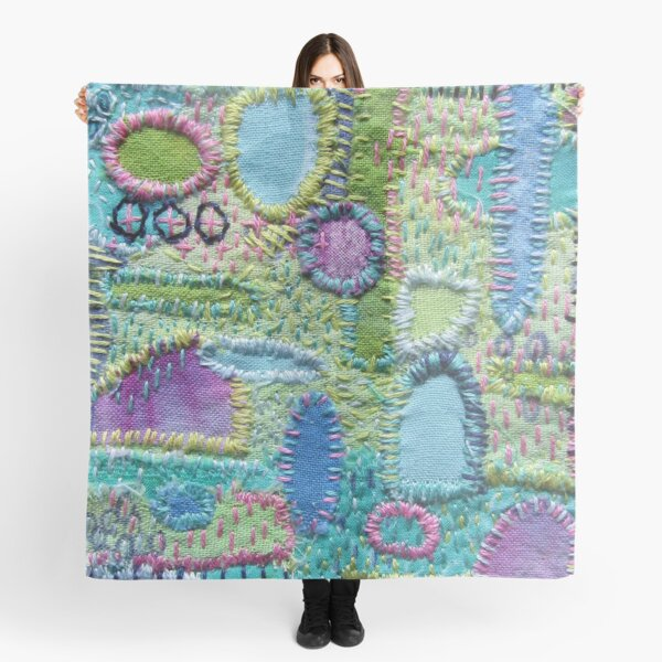 Stitched Textile Mending Scarf