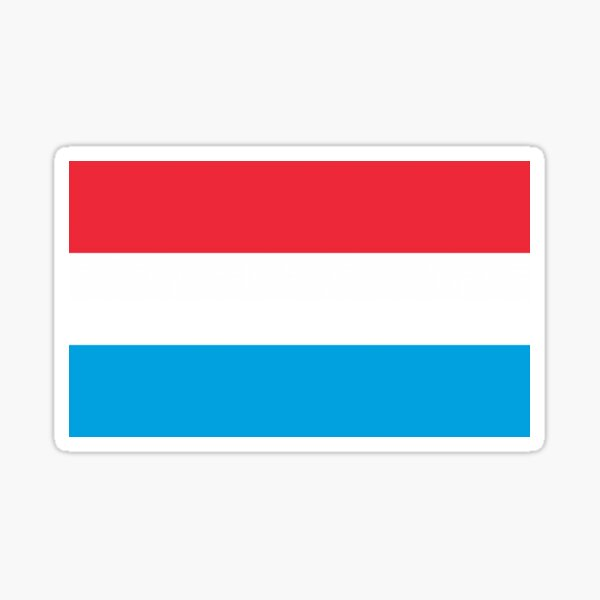 Flag of Luxembourg Sticker
