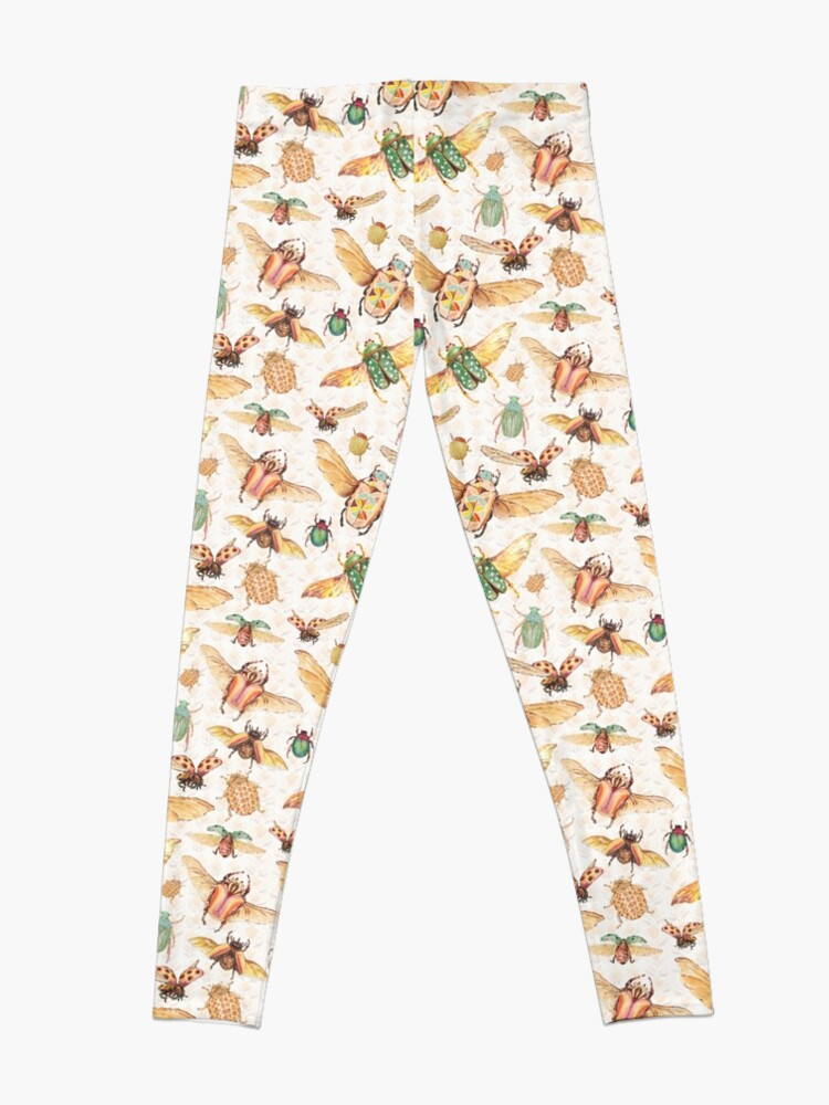 Alternate view of Bugs & Retro outfits-hand-painted watercolor  Leggings