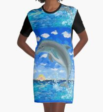 Baby Dolphin  Graphic T-Shirt Dress