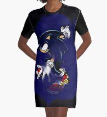 Dark Sonic (Black Background) Graphic T-Shirt Dress
