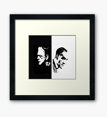 The man and the monster Framed Print