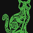 Fluorescent green biofilm cat by lovebacteria