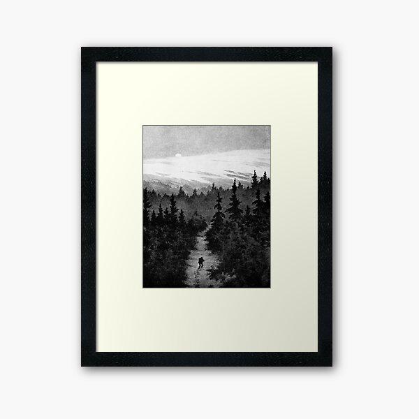 Into the Woods Theodor Kittelsen Framed Art Print