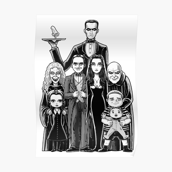 Scary Family Drawing Poster