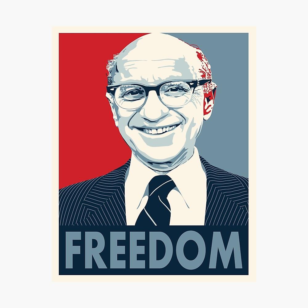 Milton Friedman Fotodruck