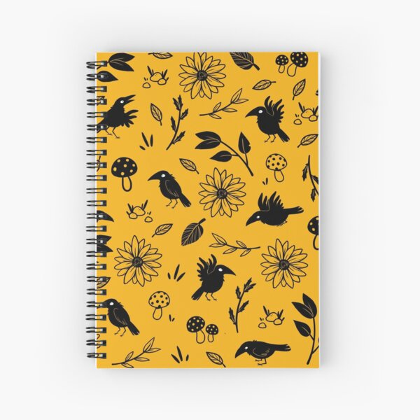 Crows and Foliage Spiral Notebook