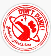 Galactic Hitchhikers Just Grate Sticker