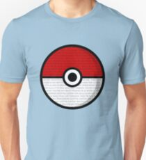 Pokéball with Pokémon Theme Lyrics T-Shirt