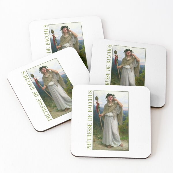 Priestess of Dionysus by Bouguereau Coasters (Set of 4)