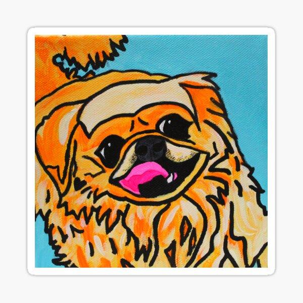 Riley the Pekingese Dog Sticker