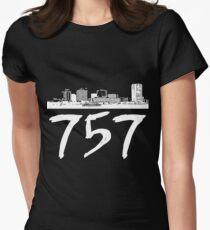 Virginia Beach - 757 (White Logo) Women's Fitted T-Shirt