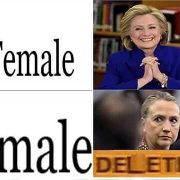 "Hillary Clinton ""Triggered"" Meme ""Delete"" by MemerMike"