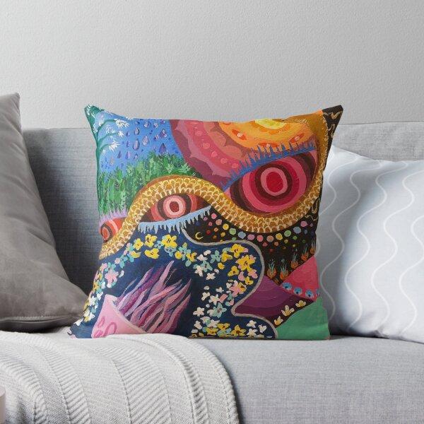 Psychedelic garden #2 Throw Pillow