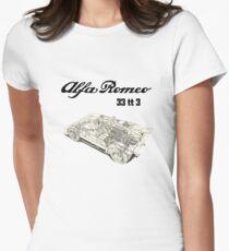 Alfa Romeo 33 tt 3 (Lighter Colors) Womens Fitted T-Shirt