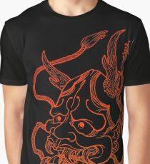 Hannya Gliederung Grafik T-Shirt