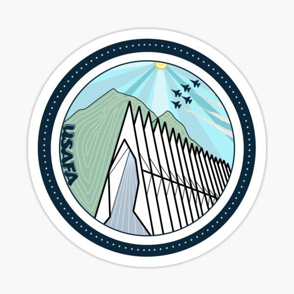 USAFA Mountains & Chapel  Sticker