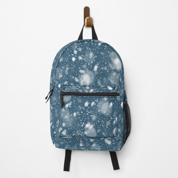 white snow pattern Backpack