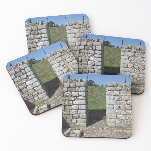 M.I. #122  ☼  Rocks And Bricks - Shot 15 (Hadrian's Wall) Coasters (Set of 4)