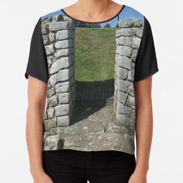 M.I. #122 |☼| Rocks And Bricks - Shot 15 (Hadrian's Wall) Chiffon Top