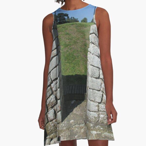 M.I. #122  ☼  Rocks And Bricks - Shot 15 (Hadrian's Wall) A-Line Dress