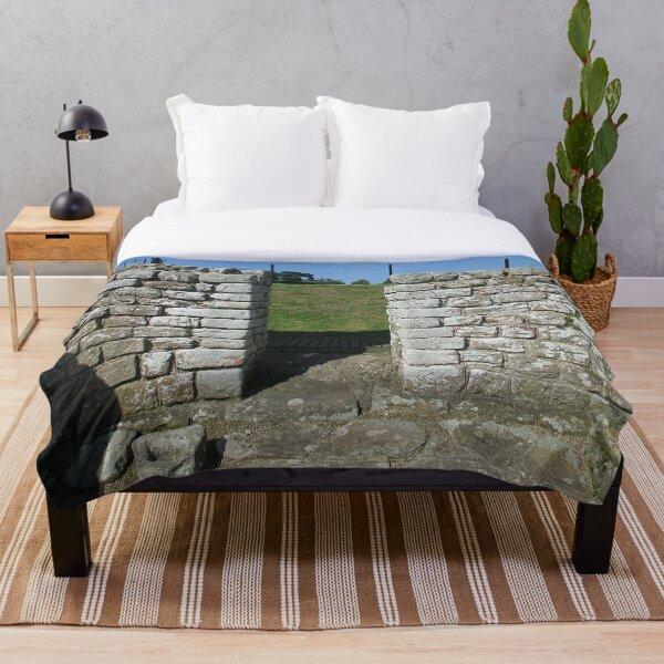 M.I. #122 |☼| Rocks And Bricks - Shot 15 (Hadrian's Wall) Throw Blanket