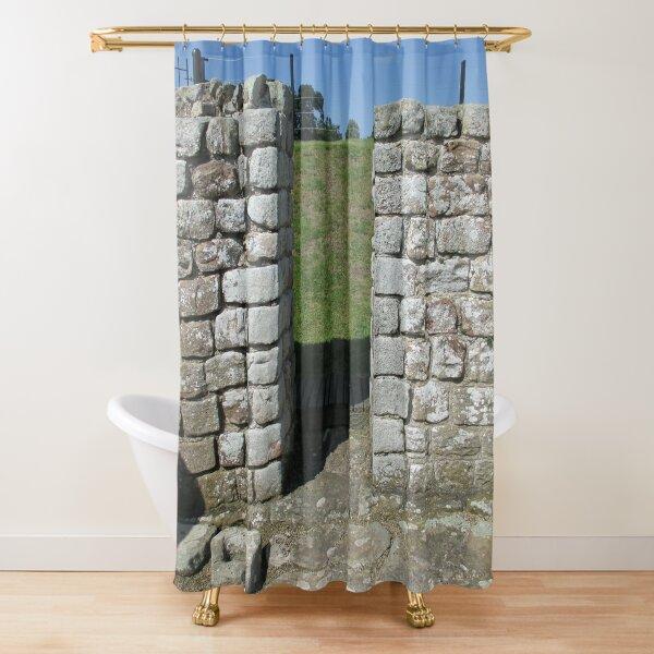M.I. #122  ☼  Rocks And Bricks - Shot 15 (Hadrian's Wall) Shower Curtain