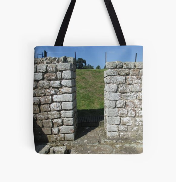 M.I. #122 |☼| Rocks And Bricks - Shot 15 (Hadrian's Wall) All Over Print Tote Bag