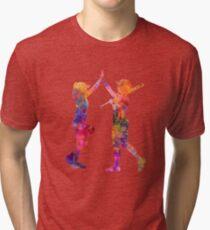 women playing softball 01 Tri-blend T-Shirt