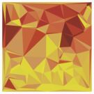 Gold Yellow Banana Abstract Low Polygon Background by retrovectors